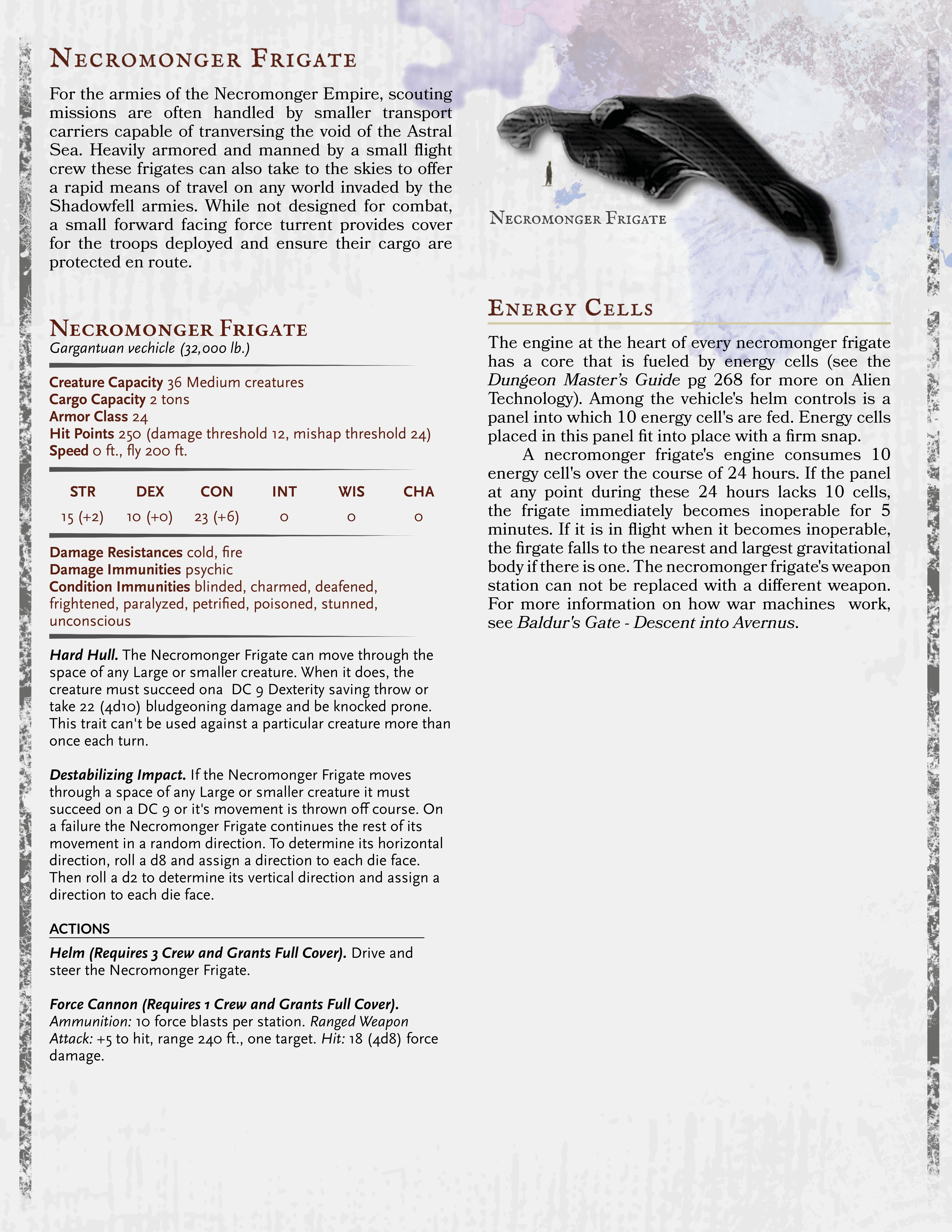 Necromonger Frigate