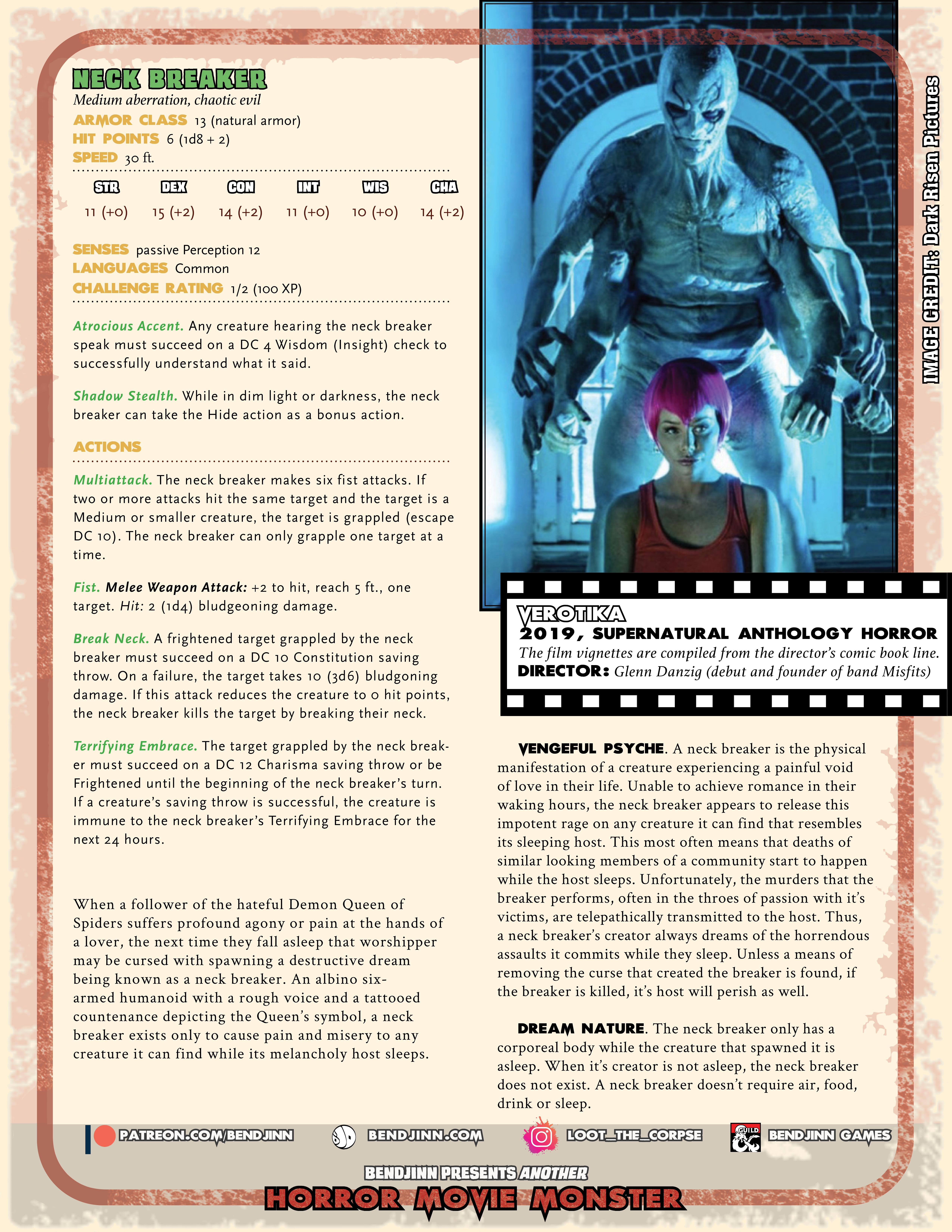 Neck Breaker (5E monster stats)