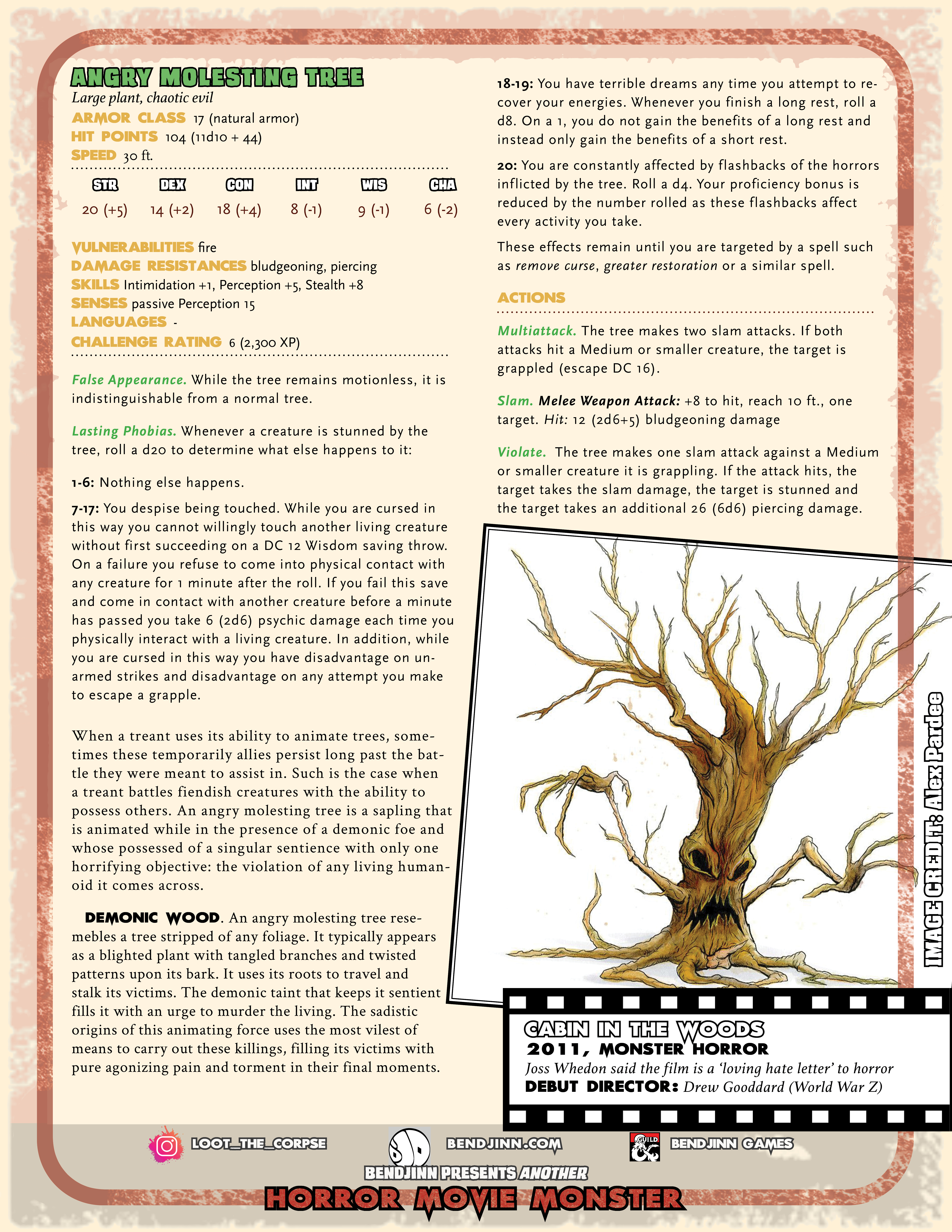 Angry Molesting Tree